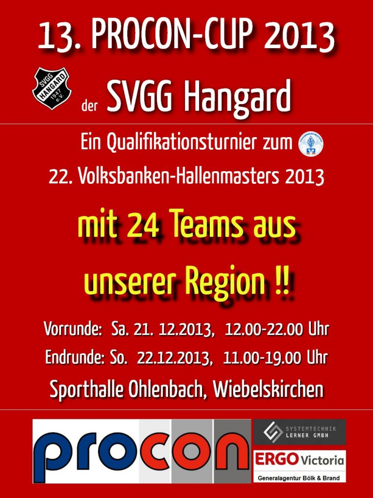 SVGG Hangard PROCON-CUP Plakat