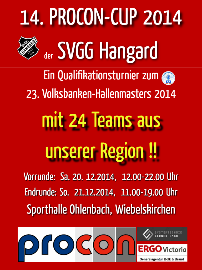 SVGG Hangard PROCON-CUP Plakat 2014